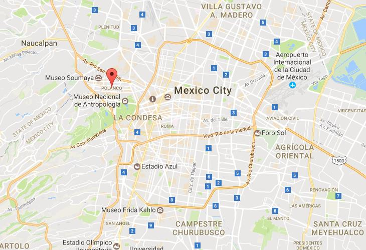 Where is Polanco on map Mexico City