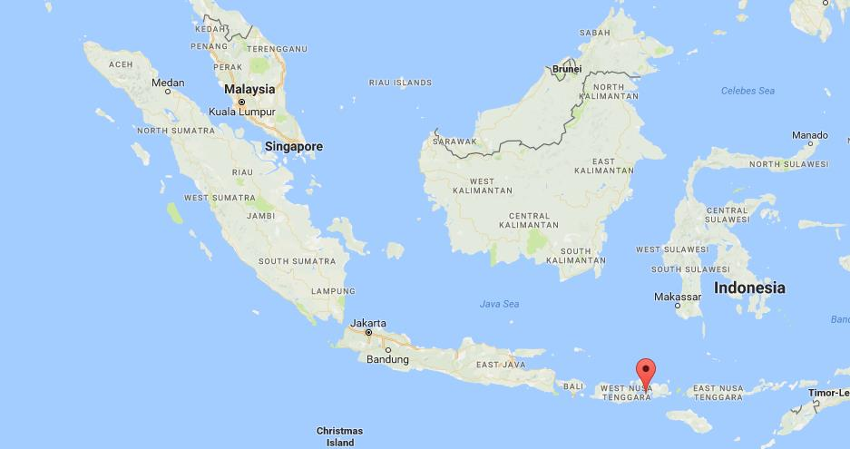 where is sumbawa on map indonesia