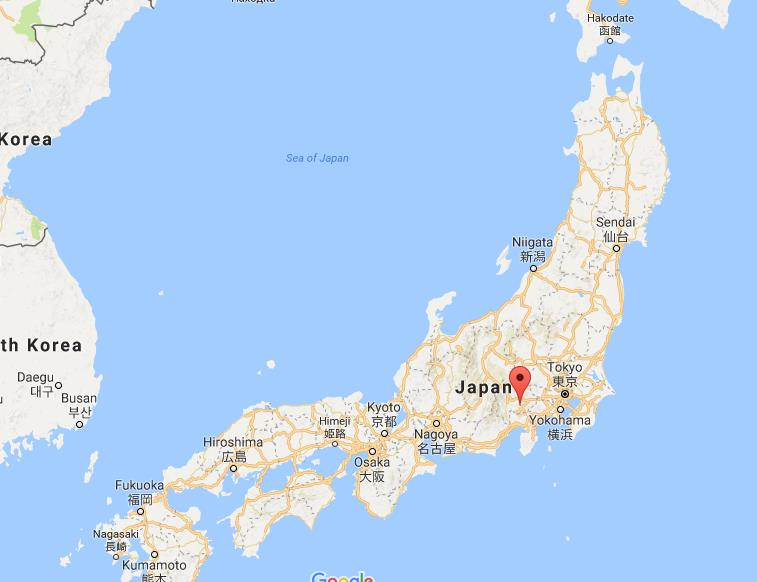 Where is Fujikawaguchiko on map Japan