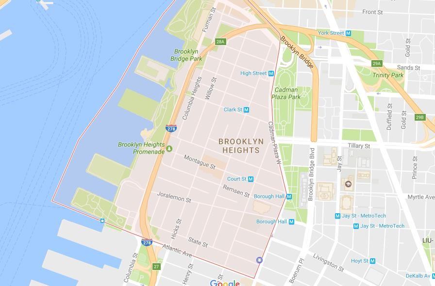 map of brooklyn heights Map Of Brooklyn Heights map of brooklyn heights