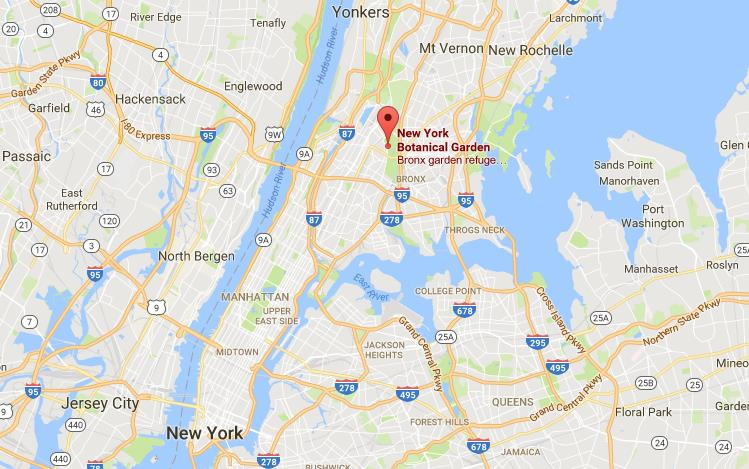 Location Of Botanical Garden On Map Of New York City