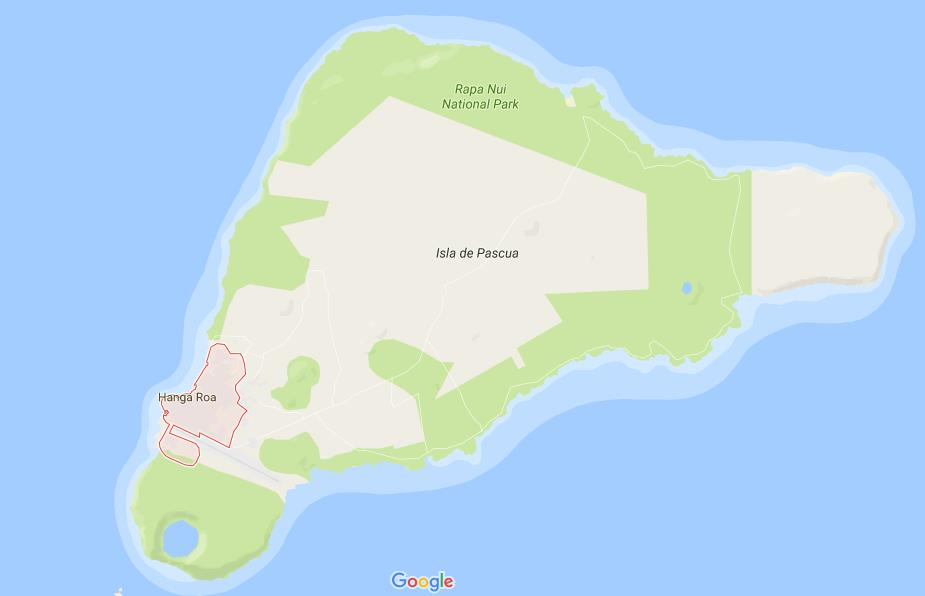 Where is Hanga Roa on map of Easter Island World Easy Guides