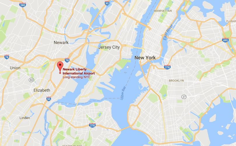 where is newark airport on map of new york city world easy guides