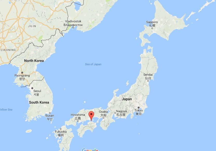 Where is Takamatsu on map Japan World Easy Guides