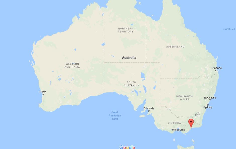 Where are Gippsland Lakes on map Australia