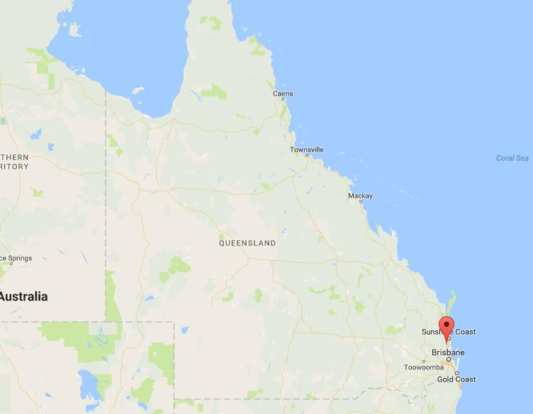 Where are Glass House Mountains on map Queensland