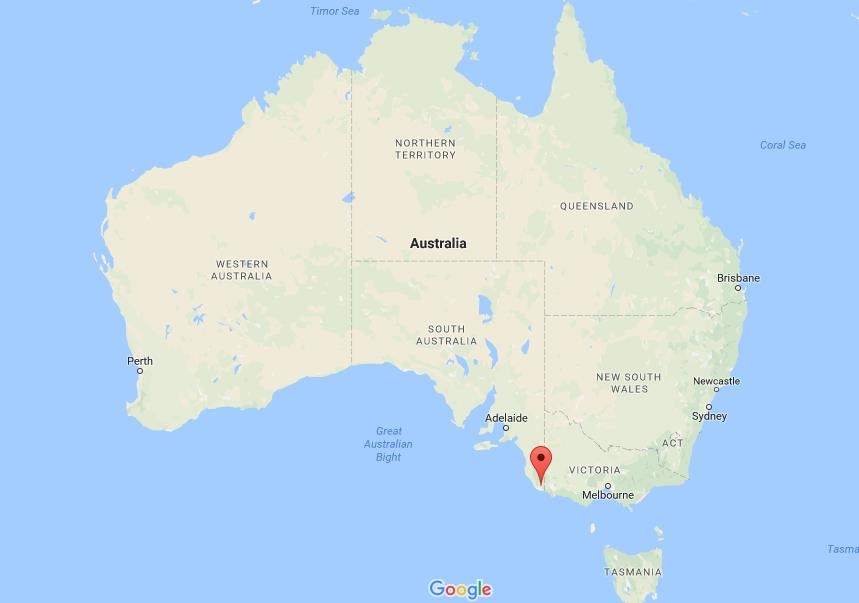 Where is Blue Lake on map Australia World Easy Guides