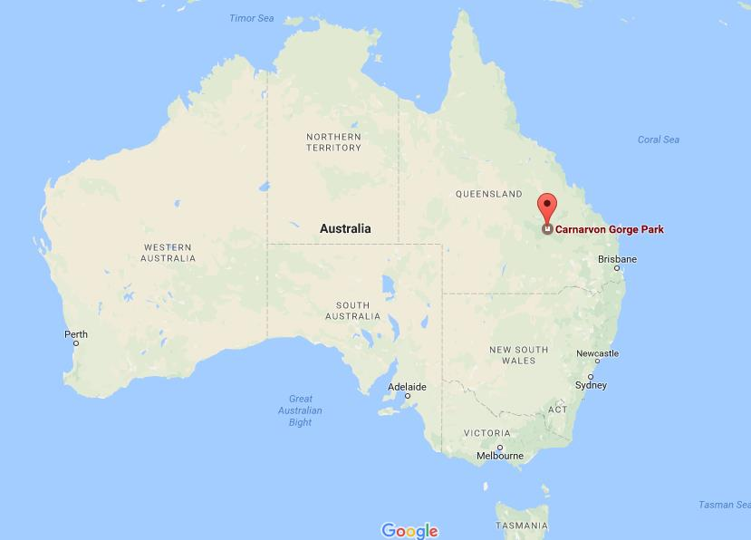 Australia Map Location.Where Is Carnarvon Gorge On Map Australia