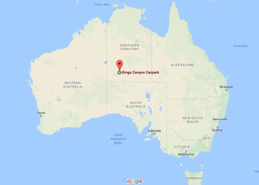 Where is Kings Canyon on map Australia World Easy Guides