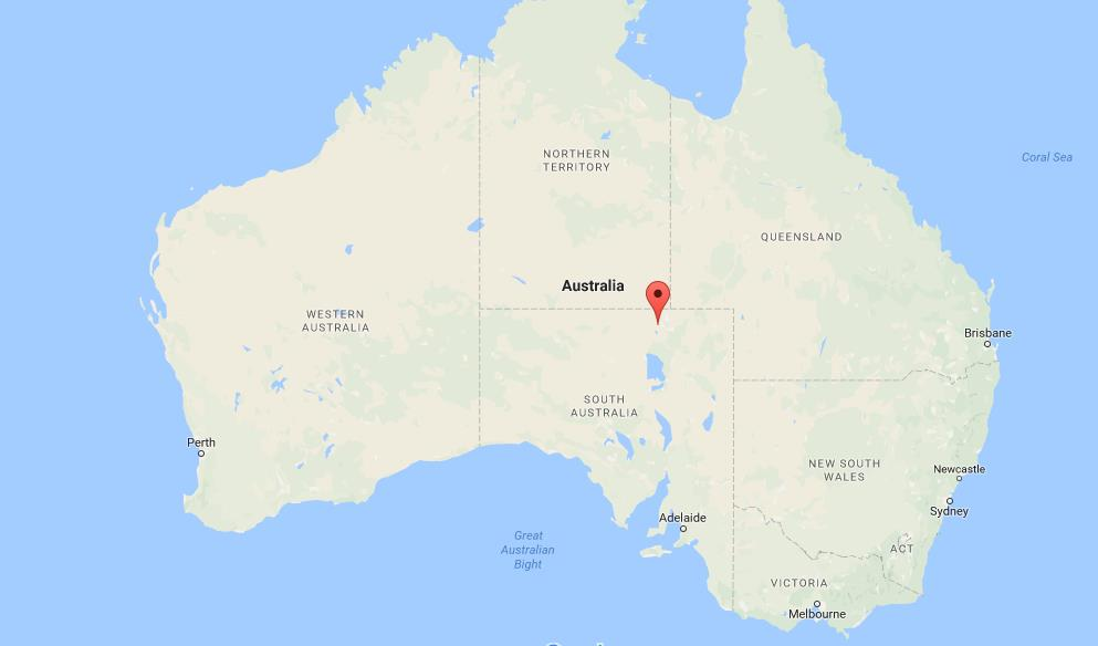 Where is Simpson Desert on map Australia World Easy Guides