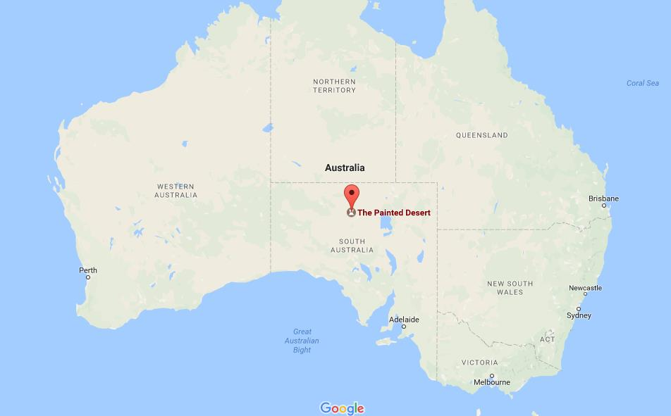 Australia Map Desert.Where Is The Painted Desert On Map Australia