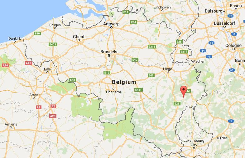 where is vielsalm on map belgium