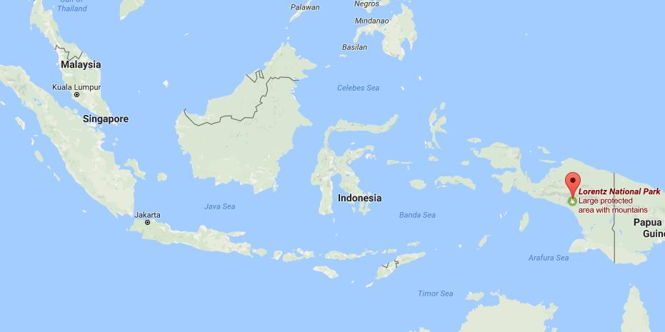 Where Is Lorentz National Park On Map Indonesia