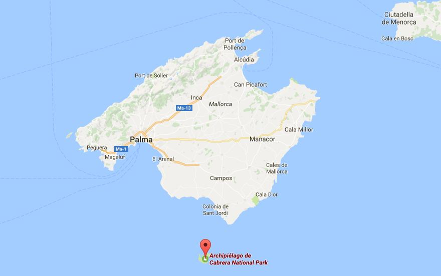 Where is Cabrera Archipelago on map of Mallorca World Easy Guides