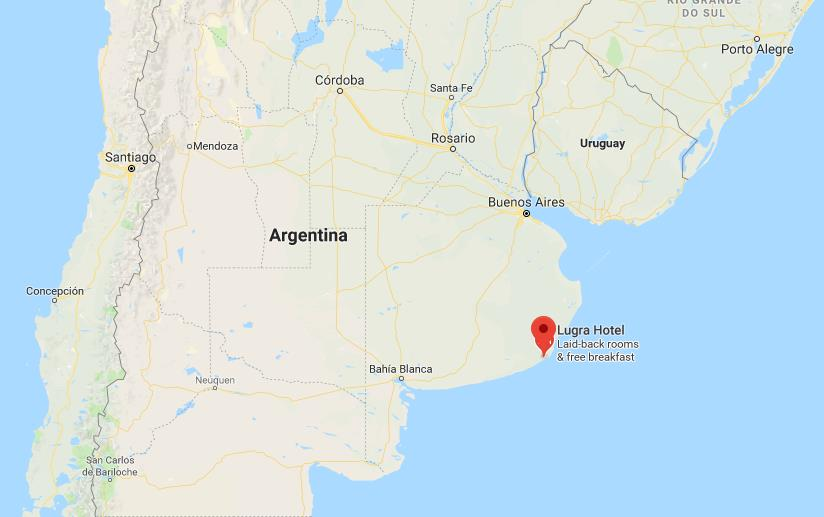 Where is Miramar on map Argentina
