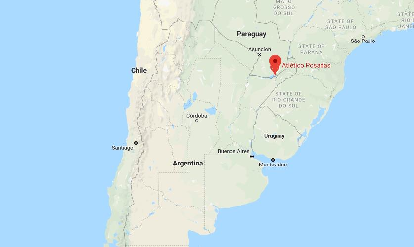 Where is Posadas on map Argentina