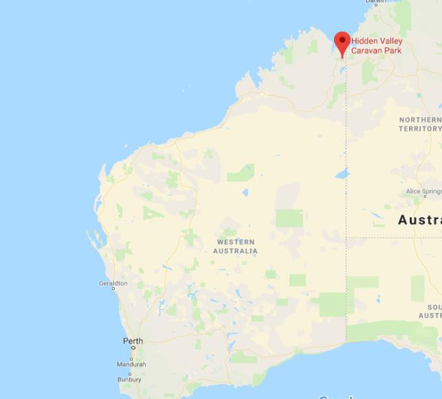 Where is Hidden Valley National Park on map of Western Australia