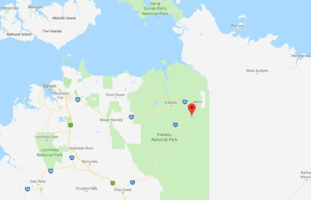 Map Of Australia Kakadu National Park.Nourlangie Rock World Easy Guides