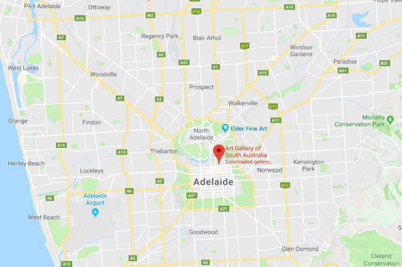 Map Of Adelaide Australia.Where Is The Art Gallery Of South Australia On Map Of Adelaide