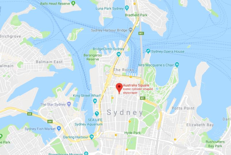 Where Is Sydney Australia On A Map.Where Is Australia Square On Map Of Sydney