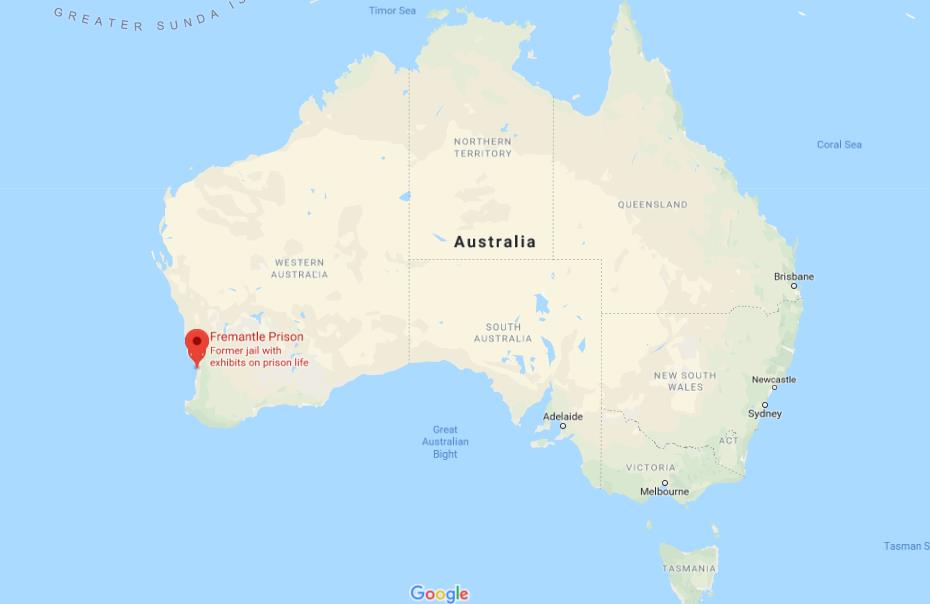 Where Is Fremantle On Map Of Australia