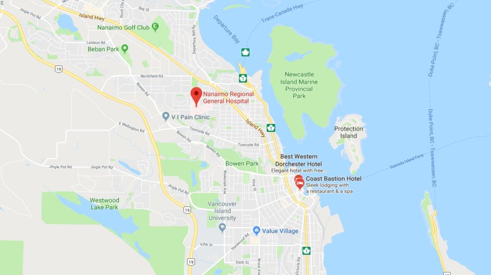 Map of Nanaimo World Easy Guides