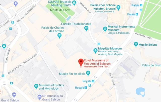 maps of royal museums of fine arts of belgium
