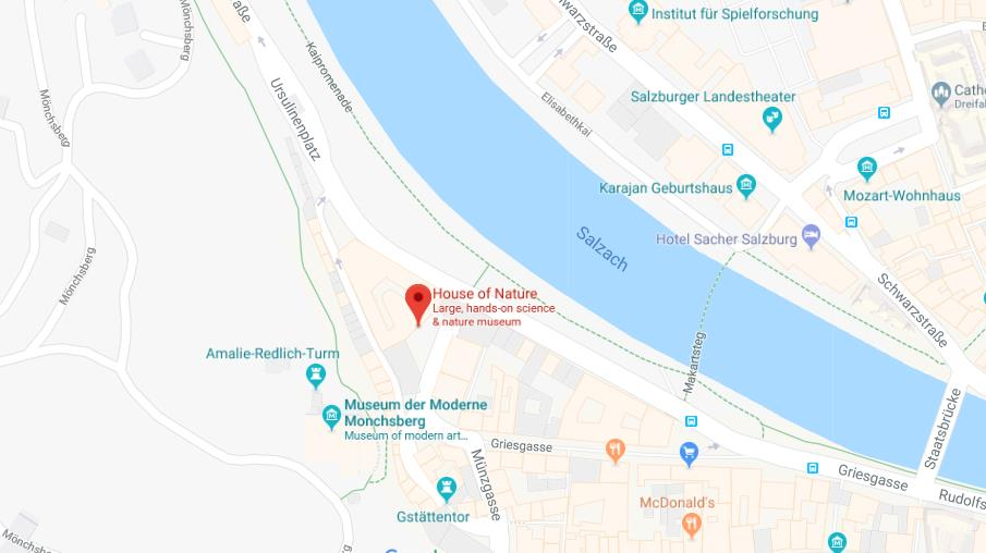 Map of House of Nature Salzburg | World Easy Guides
