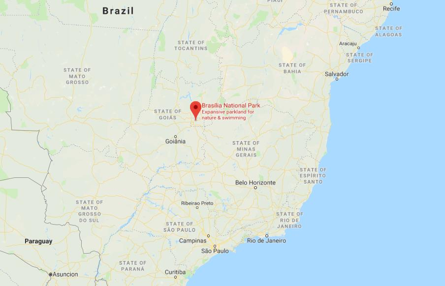 Where is Brasilia National Park on map