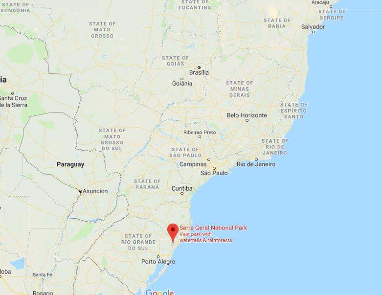 Where is serra geral national park on map of brazil world easy guides where is serra geral national park located on map of brazil gumiabroncs Images