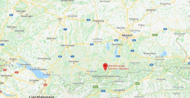 Map Of Germany Memmingen.Oberammergau World Easy Guides