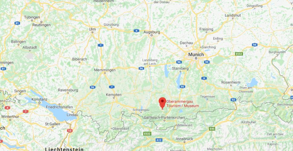 Oberammergau Germany Map.Where Is Oberammergau On Map Of South Germany
