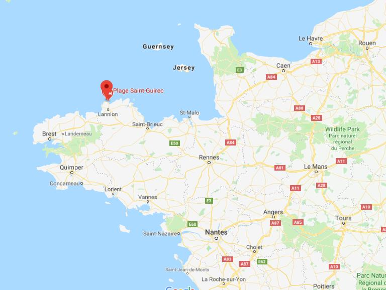 Map Of North West France.Where Is Perros Guirec On Map Of Northwest Of France