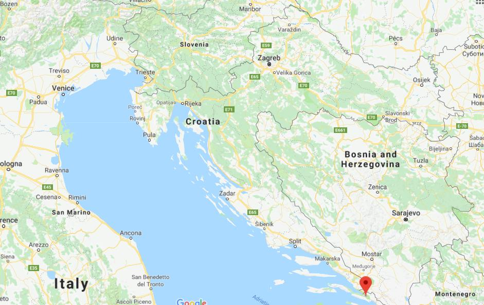 Where is Ston on map of Croatia