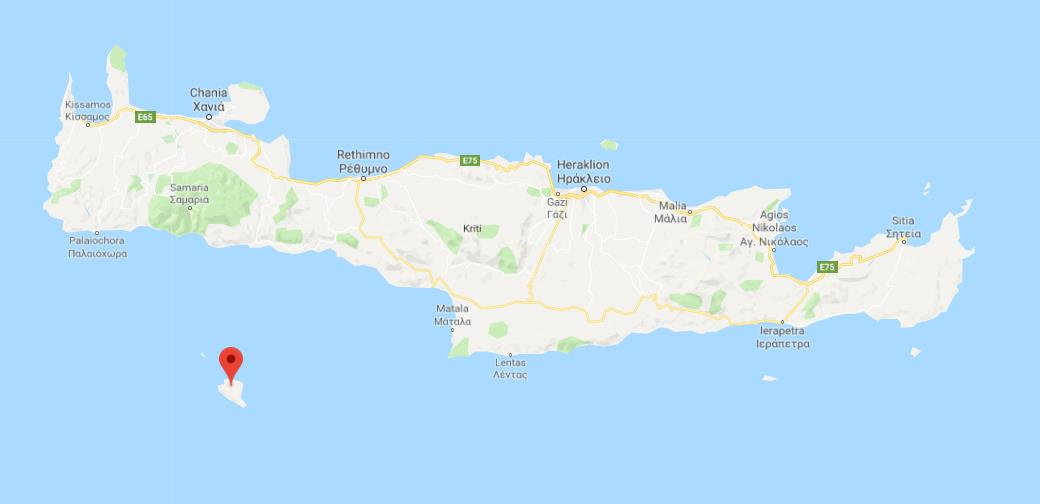 Where Is Gavdos On Map Of Crete