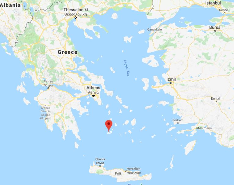 Where Is Milos On Map Of Greece