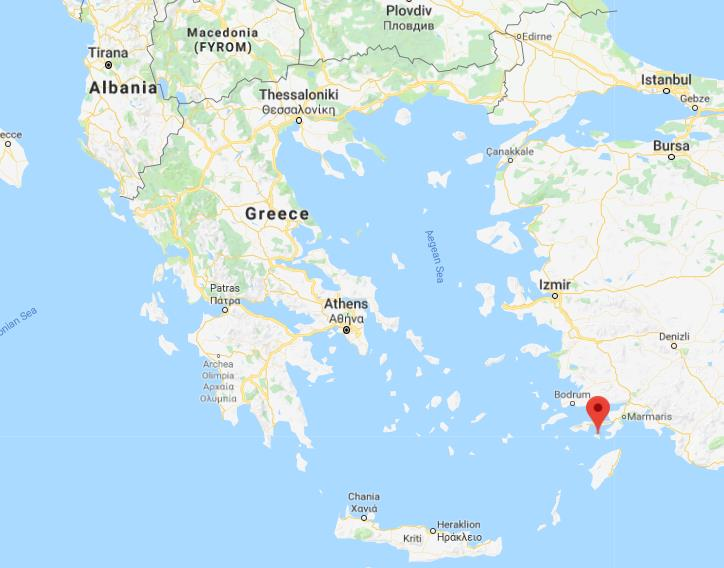 Where Is Symi On Map Of Greece
