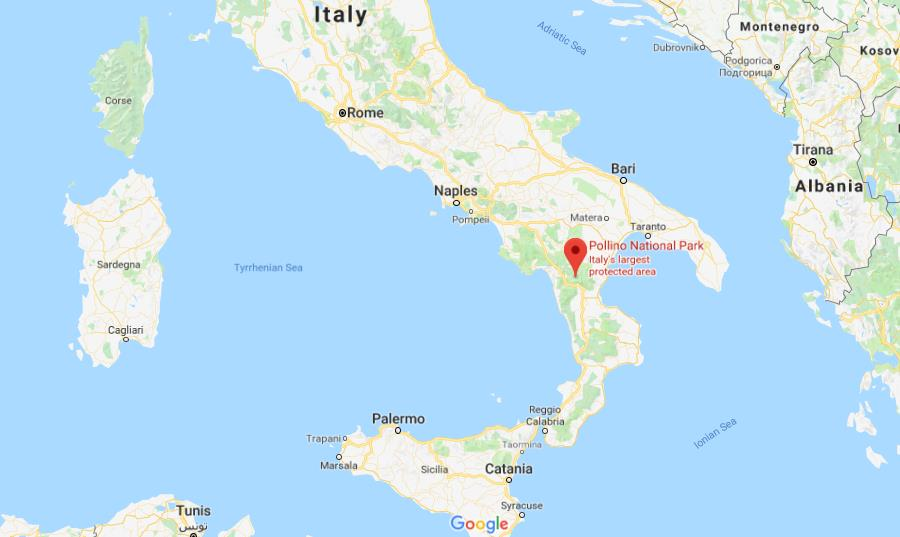 Map Of South Italy.Where Is Polinno National Park On Map Of South Of Italy