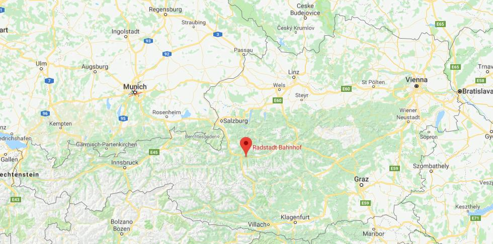 Where is Radstadt on map of Austria