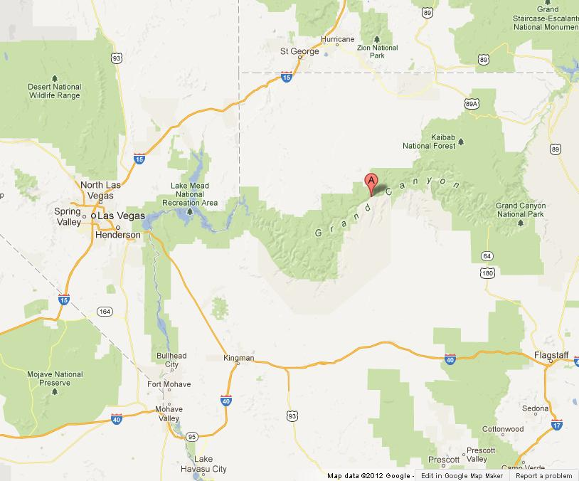 Grand Canyon Area Map