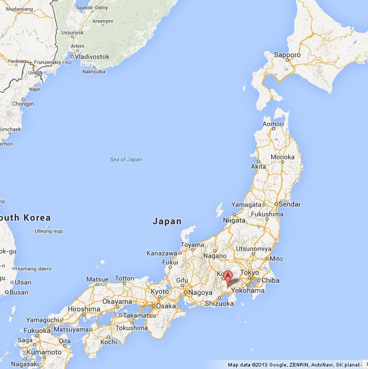 Mount Fuji Map Mount Fuji on Map of Japan Mount Fuji Map