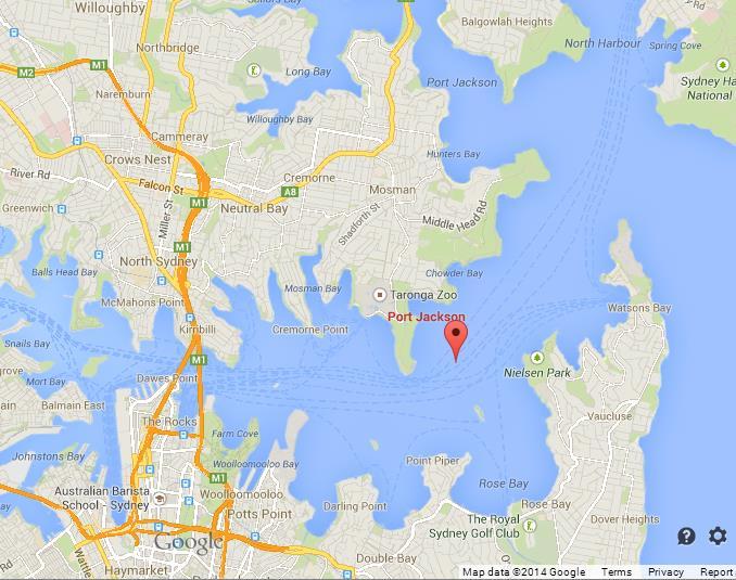 Map Of Sydney Harbour Sydney Harbour Map