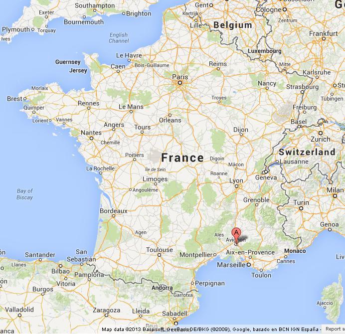 Avignon France Map Avignon on Map of France Avignon France Map