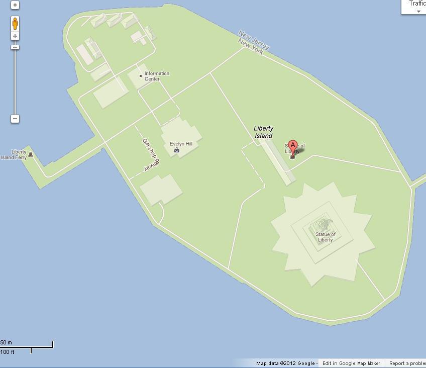 Liberty Island Map Map of Liberty Island NY