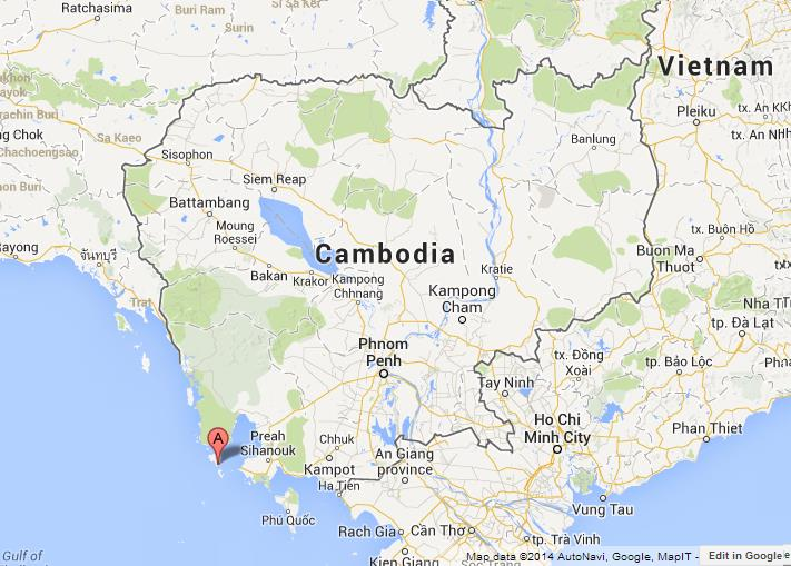 Koh Rong Cambodia Map Koh Rong on Map of Cambodia Koh Rong Cambodia Map