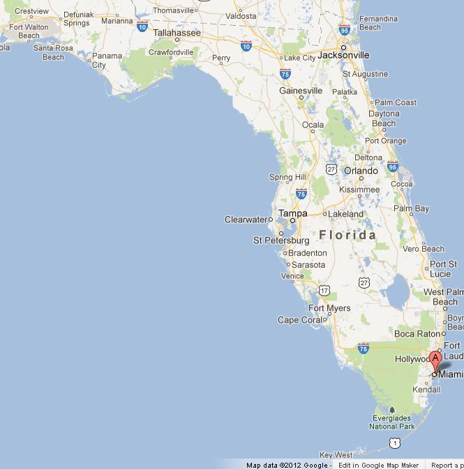Miami On Map Miami on Map of Florida