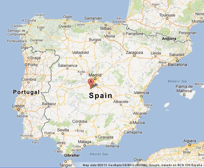 Toledo Spain Map Toledo on Map of Spain Toledo Spain Map
