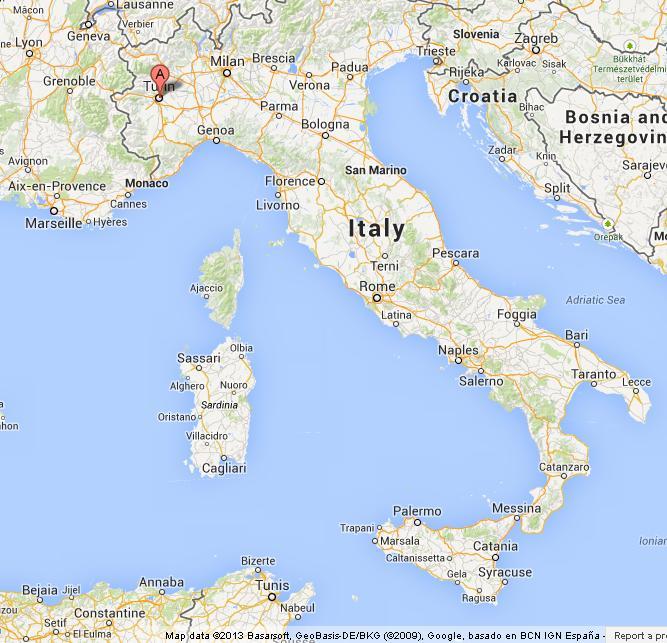Torino Italy Map Turin on Map of Italy Torino Italy Map