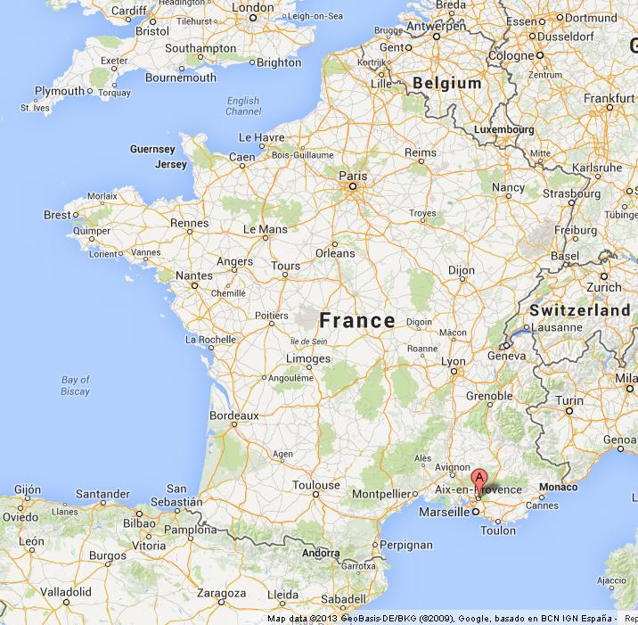 Aix En Provence Map Aix en Provence on Map of France Aix En Provence Map