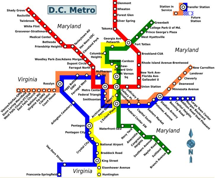 This is a graphic of Printable Map of Dc with regard to full page